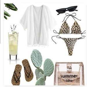Shoes - Leopard Pattern Flip Flops